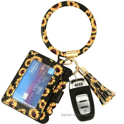 Daisy Sunflower Reinforced Version Cards Holder Wristlet Keychain Wallet w ID Windows at  Women's Clothing store