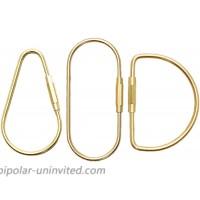 DIAFLY 3 PCS Brass Screw Lock Keychain - Durable Brass Lock Clip Key Holders - Simple Style Car Keychain Brass for Men Women at  Men's Clothing store