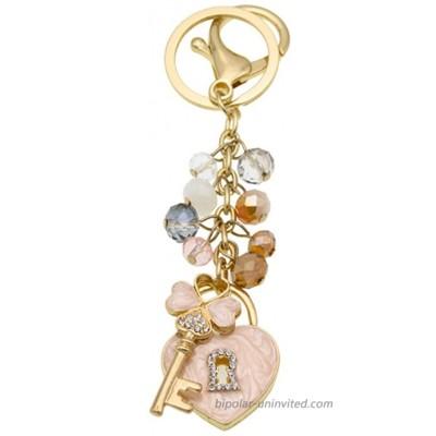 Fashion Lady's Keychain Heart Crystal Rhinestone Key Chain Key Ring Charm Purse Pendant Handbag Bag Decoration Holiday Christmas Gift For Girls Love keychain