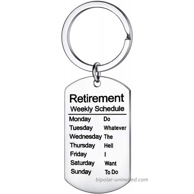 Funny Retirement Gifts Retired Schedule Calendar Keychain for Coworkers Office Family Creative Key Chain for Retired Men at  Men's Clothing store