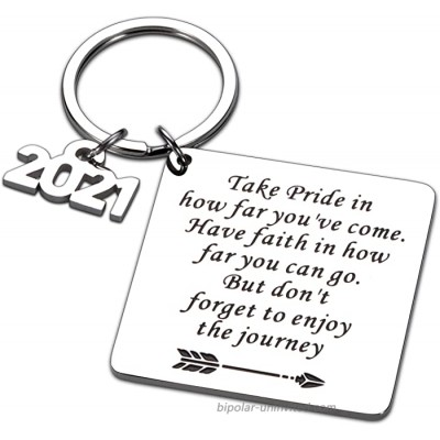 Graduation Gifts for Him Her Class of 2021 Keychain Gift for Senior Masters Nurses Students Grad from College High School 2021 Graduation Gifts for Teenagers Boys Girls Daughter Son Graduates Keepsake