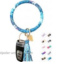 Kangan Key Ring Bracelet – Bracelet Keychain for Women with Tassels – Large Circle Keychain Holder Bracelet – Modern and Chic Key Wristlet for Women – Durable Silicone Bracelet for Keys at  Women's Clothing store