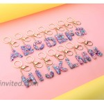 Letter M Keychain Accessories Cute Crystals Keyring Initial Key Ring for Women at Women's Clothing store