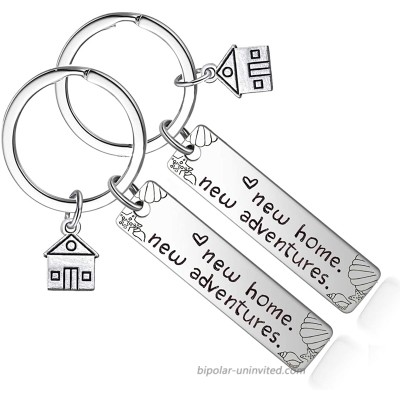 MAITONG New Home Keychain - Housewarming Gift for New House Homeowner Moving in Key Chain Realtor Closing Gifts Keyring Silver 2# at  Men's Clothing store