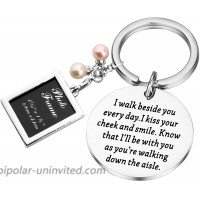 PLITI Bride Wedding Gift for Bride from Mom and Dad Bridal Bouquet Photo Charm Something Blue for Bride on Wedding at  Women's Clothing store
