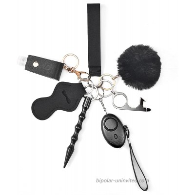 Wristlet Safety Keychain Set Cute Keychains for WomenBlack at  Women's Clothing store