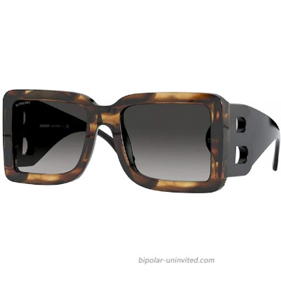 BE4312 38688G 55MM Brown Grey Gradient Square Sunglasses for Women + FREE Complimentary Eyewear Kit