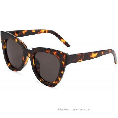 FEISEDY Retro Cat Eye Sunglasses Women Men Vintage Square Cateye UV400 Sunglasses B2586
