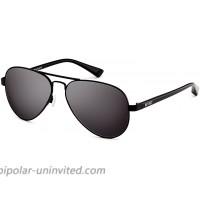 MVMT Runaway | Polarized Aviator Women's & Men's Sunglasses | Matte Black | 60 mm