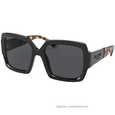 PR21XS 1AB5Z1 54MM Black Polar Gray Polarized Square Sunglasses for Women +. FREE Complimentary Eyewear Kit