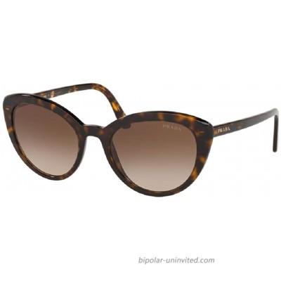 Prada PR02VS CATWALK 2AU6S1 54M Havana Brown Gradient Cat Eye Sunglasses For Women+FREE Complimentary Eyewear Care Kit