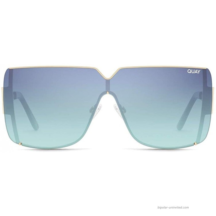 QUAY AUSTRALIA Bank Roll Gold Teal Lens One Size