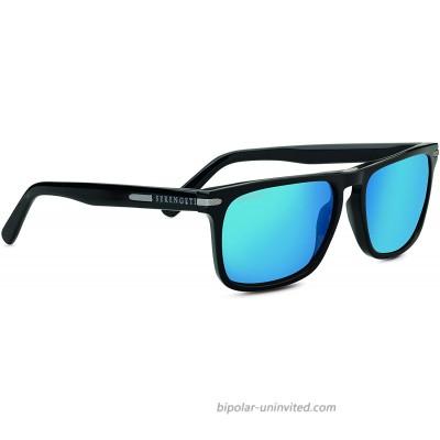 Serengeti Carlo Large Sunglasses Shiny Black Unisex-Adult Large