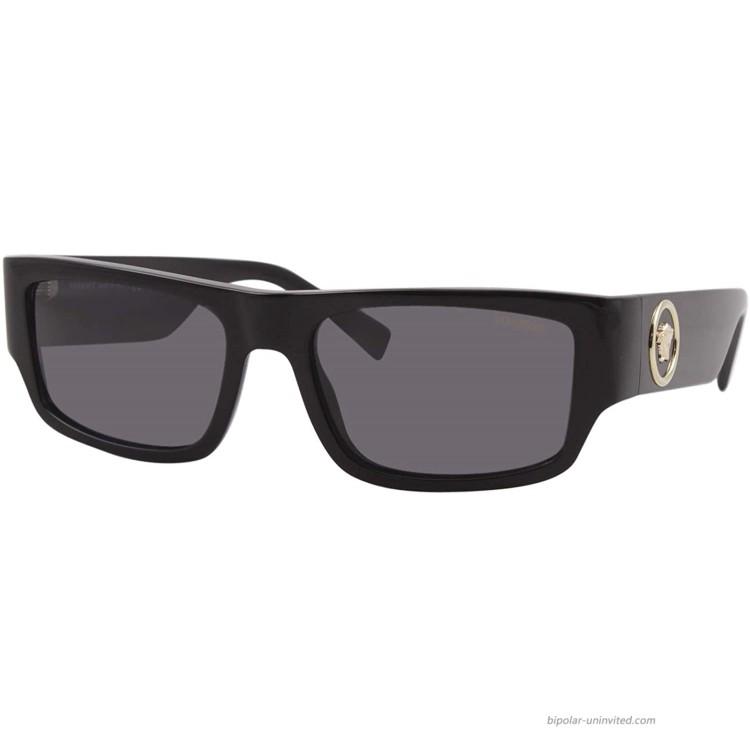 Versace Man Sunglasses Black Lenses Acetate Frame 56mm