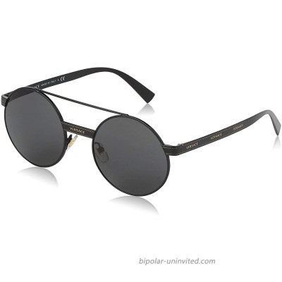 Versace Sunglasses Black Frame Grey-Black Lenses 52MM