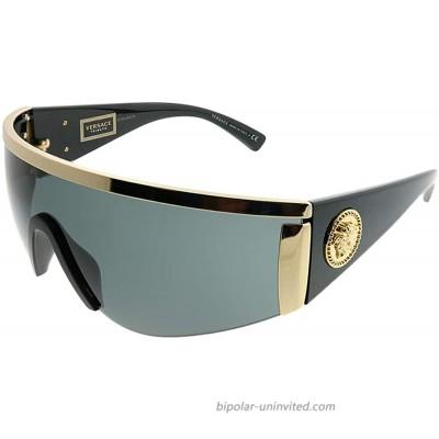 Versace Women's Shield Sunglasses Gold Grey One Size Versace