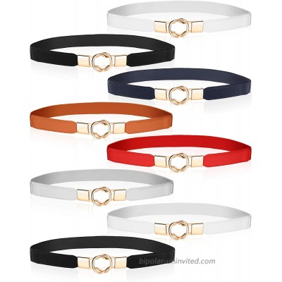 8 Pieces Women Skinny Stretchy Waist Belt Metal Elastic Thin Belt for Ladies Dresses 6 Colors at  Women's Clothing store