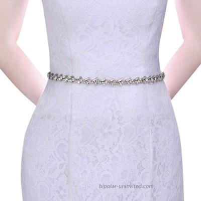 Azaleas Bridal Rhinestone Belt Bridesmaid Dress Sash Thin White Belt for DressS468 organza white at  Women's Clothing store