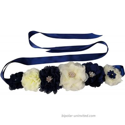 Flower Maternity Sash Belt for Mommy Photoshot Baby Shower Sash Belt Navy at  Women's Clothing store