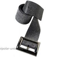 HappyERA Women Crystal Waist Buckle Belt Rhinestones Waistband Fashion Accessory - Black