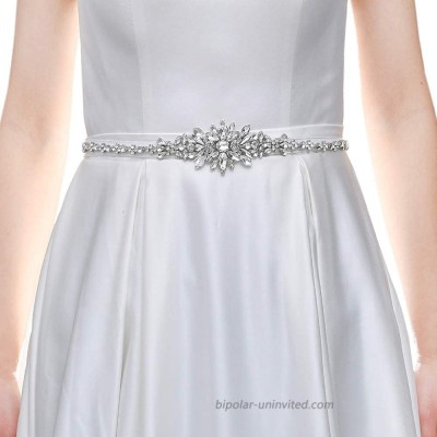 HONGMEI Wedding Belt for Bride Dress with Rhinestone and Pearls Bridesmaid Belts for Women Dresses at  Women's Clothing store