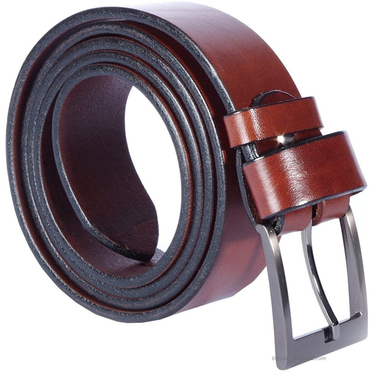 Leather Belt Men Women Unisex - Vegetable Tanned - Many Colours Lengths Widths at Women's Clothing store