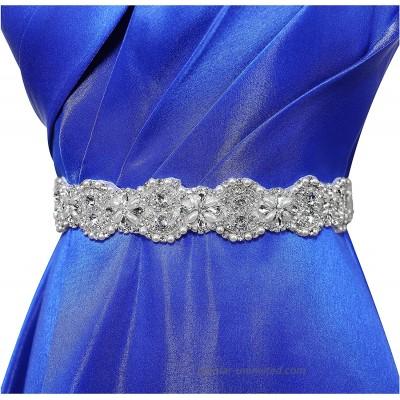 Lovful Women Crystal Sashes Belts for Wedding Bridal Rhinestone Sash Ivory at  Women's Clothing store