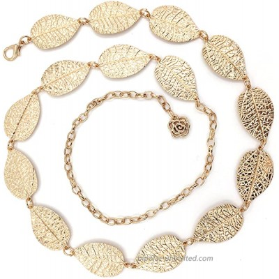 TeeYee Women Girls Leave Decor Waist Chain in Gold Silver Color L Gold