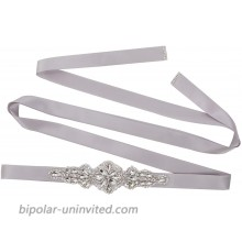 Tendaisy Women's Handmade Crystal Diamond Belt Wedding Bridal Sashes for Bridesmaid Gowns Silver at  Women's Clothing store