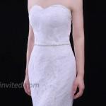ULAPAN Rhinestone Bridal Belt Thin Silver Wedding Belt bridesmaid belts for Dresses Belts for Women WeddingS305 at Women's Clothing store