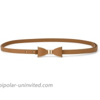uxcell Skinny Waist Belt Metal Bow-knot No Buckle Thin Belt for Women at  Women's Clothing store