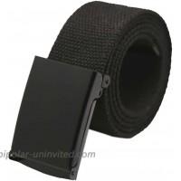 uxcell Unisex Canvas No Holes Slide Buckle Adjustable Waist Belt Width 1 5 8 Black at  Women's Clothing store