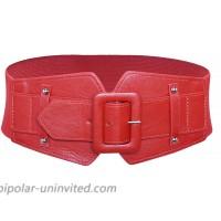 Women Obi Belt Vintage Wide Elastic Waist Band Adjustable Stretchy Cinch Belt red at  Women's Clothing store