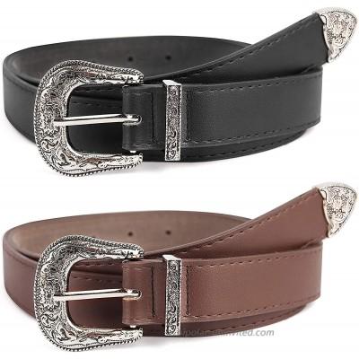 Womens Vintage-Belts Ladies-Western-Leather-Belts Design-Waist-Belt for Jeans Pants Dress at  Women's Clothing store