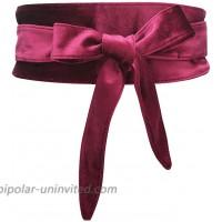 Yoli Womens Soft Velvet Wrap Around Belt Self Tie OBI Waist Band for Dress at  Women's Clothing store