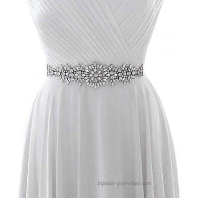 ZHENM Elegant Rhinestone Wedding Belt Bridal Sash Evening Party Dresses Belt Sashes