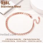 FOCALOOK Ankle Bracelets for Women Men Rose Gold Plated Mariner Link Chain Anklet Bracelet Jewelry for Women Teen Girls