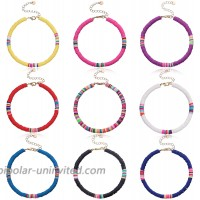 GYSONG Anklets For Women Boho Surfer Anklet Rainbow Cute Beaded Anklet Adjustable Beach Foot Jewelry 9 Pieces