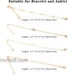 Magitaco 16Pcs Bracelets for Women Gold Chain Evil Eye Bracelets Charm Beaded Pearl Layered Bracelet for Women Jewelry Gold Tone
