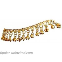 Uma Indian Traditional Belly Dance Ghungroo Brass Anklet No Color Size No Size