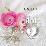 GNOCE Mother And Daughter Charm Pendant Silver Mom Love Heart Maternal Bond Dangle Charm Fit For Bracelet Necklace Christmas Charm Gift for Mom Daughter
