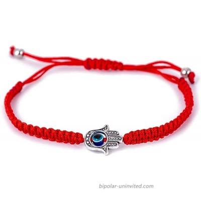 Red String Kabbalah Evil Eye Charm Bracelets for Protection and Luck Adjustable Hand-Woven Red Cord Thread Friendship Bracelet Amulet Jewelry red eye