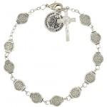 Saint Benedict Medals Rosary Bracelet 7 3 4 Inch