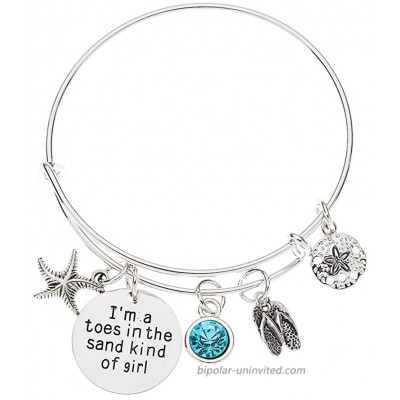 Toes in the Sand Bracelet Beach Jewelry Gift for Women
