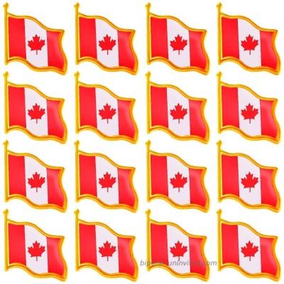 20 Pack Canada Flag Pin Canadian National Flag Lapel pins Enamel Made of Metal Souvenir Men Women Patriotic