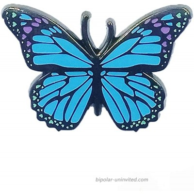 Butterfly Hard Enamel Pin with Blue Gilttering as Gift for Yourself Friends Make You Sparkle Lovely at Party Wedding Banquets