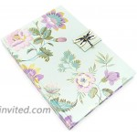 Floral Charm Mint Jacobean Dragonfly Brooch Flap Journal. Brooch Not Removable 44529