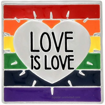 Fundraising For A Cause | Rainbow Love Is Love Pin - Heart LGBTQ Pride Pin for Men & Women 1 Pin