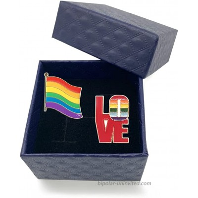 Gay Pride Pin Rainbow Flag Enamel Lapel Pin LGBT Badges Brooches Decoration with a Gift Box for Clothes and Bags