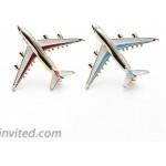 Jana Winkle Alloy Airplane Brooch Pins Enamel Red Blue Plane Luxury Brand Brooches Blue